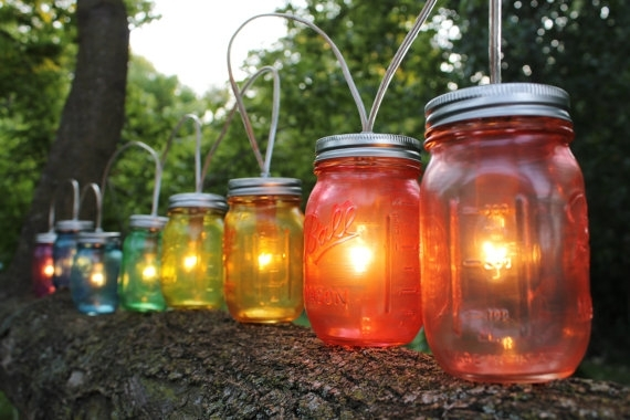 10 Ideas For Outdoor Mason Jar Lights To Add A Romantic Glow To Your within Outdoor Hanging Mason Jar Lights (Image 2 of 10)