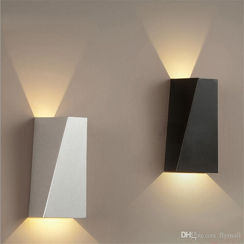 10W Led Modern Light Up Down Wall Lamp Square Spot Light Sconce Regarding Outdoor Wall Sconce Up Down Lighting (Gallery 10 of 10)