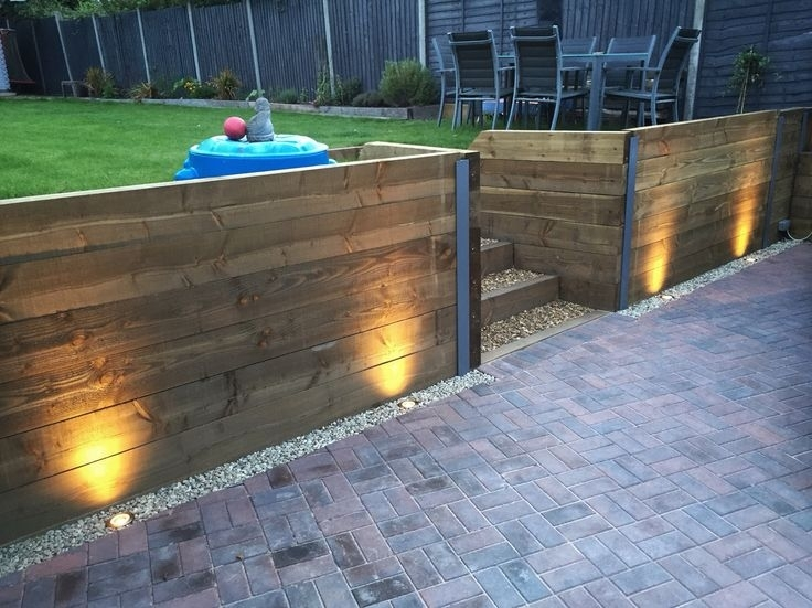 11 Best Retaining Wall Designs Images On Pinterest | Landscaping intended for Outdoor Block Wall Lighting (Image 1 of 10)