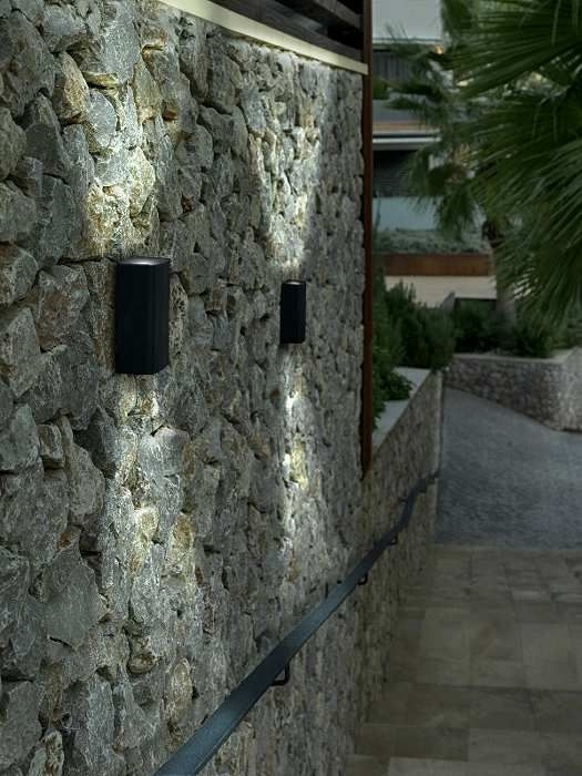 112 Best Lighting Images On Pinterest | Exterior Lighting, Small throughout Outdoor Stone Wall Lighting (Image 1 of 10)