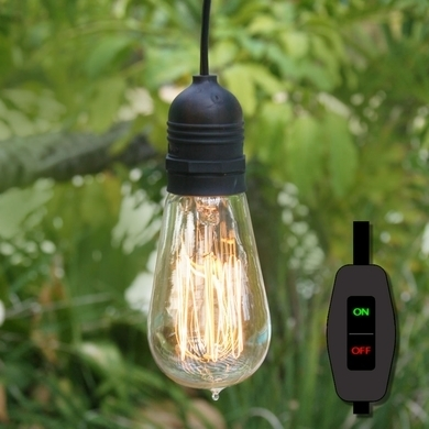 15Ft Black Commercial Grade Outdoor Pendant Light Lamp Cord (On/off With Commercial Outdoor Hanging Lights (Gallery 2 of 10)