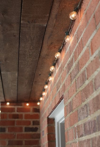 161 Best Patio Lights & Outdoor Living Ideas Images On Pinterest With Regard To Hanging Outdoor Lights On Brick (Gallery 4 of 10)