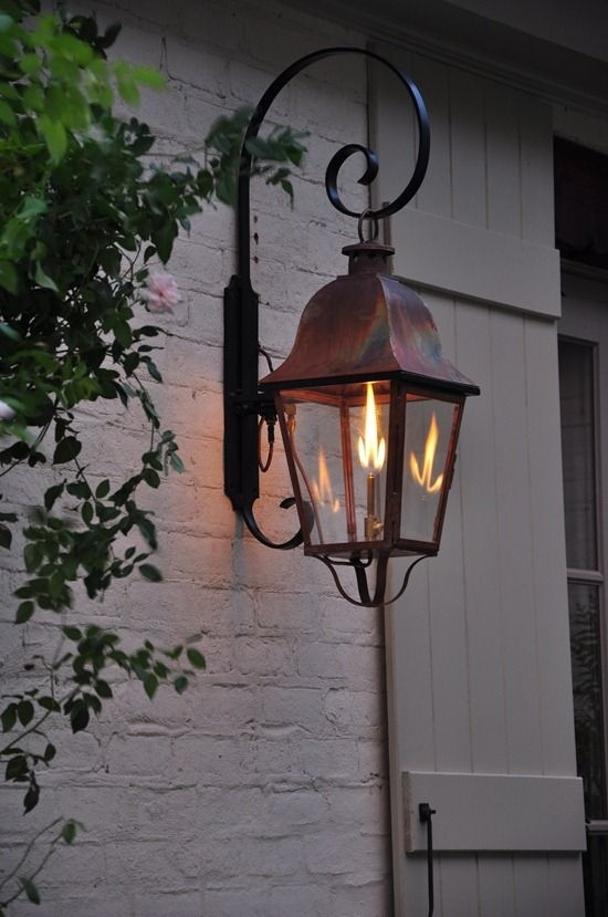163 Best Lanterns Images On Pinterest | Lanterns, Exterior Lighting regarding Outdoor Hanging Gas Lights (Image 2 of 10)