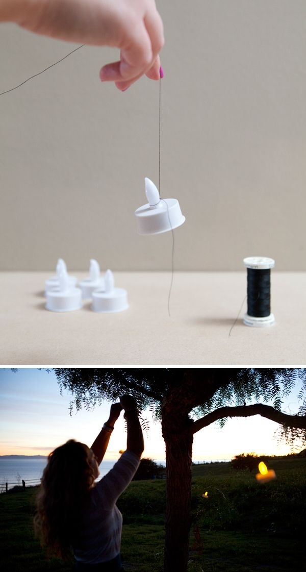 163 Best Led Battery Tea Light Wedding Ideas Images On Pinterest for Outdoor Hanging Tea Lights (Image 2 of 10)