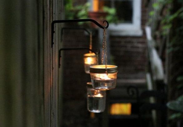 17 Apart: Over On Ehow: Diy Hanging Mason Jar Lights For Outdoor Hanging Mason Jar Lights (Photo 6 of 10)