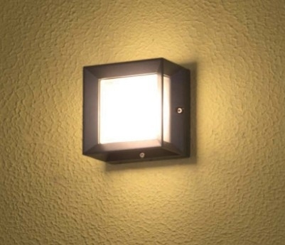 1X3W Cob Square Outdoor Wall Light Glass Block Wall Lamp Led Wall pertaining to Square Outdoor Wall Lights (Image 1 of 10)