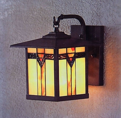2 Stained Glass Outdoor Wall Mount Sconce Lamp Exterior Entryway pertaining to Stained Glass Outdoor Wall Lights (Image 1 of 10)