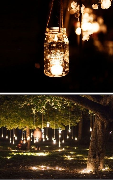 20+ Diy Wedding Decorations On A Budget | Diy Outdoor Weddings Inside Outdoor Hanging Mason Jar Lights (Photo 9 of 10)
