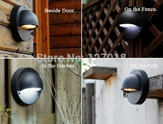 2014 New Modern Led Outdoor Wall Lighting Eye Garden Wall Surface Inside Low Voltage Outdoor Wall Lights (Photo 3 of 10)