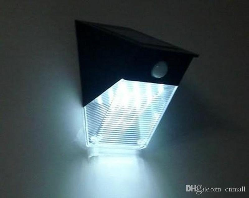 2018 12 Led Outdoor Solar Wall Lamp Solar Triangle Light Pir Motion with Solar Led Outdoor Wall Lighting (Image 1 of 10)
