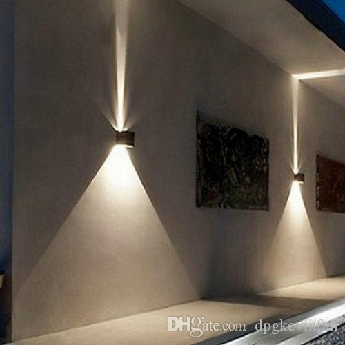 2018 Led 12W Outdoor Wall Light Up Down Ip65 Waterproof White Black throughout Outdoor Wall Down Lighting (Image 1 of 10)