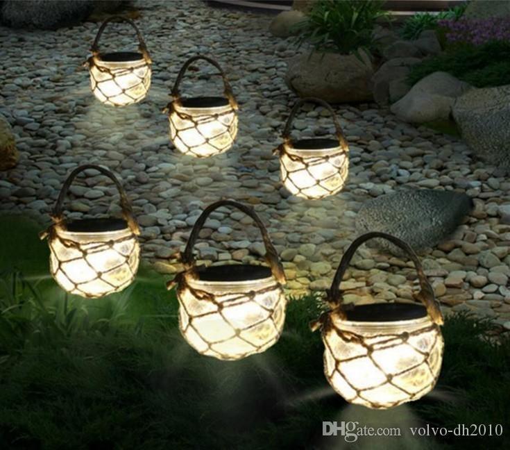 2018 Solar Powered Outdoor Glass Garden Decking Lights Hanging With Solar Powered Outdoor Hanging Lanterns (View 1 of 10)