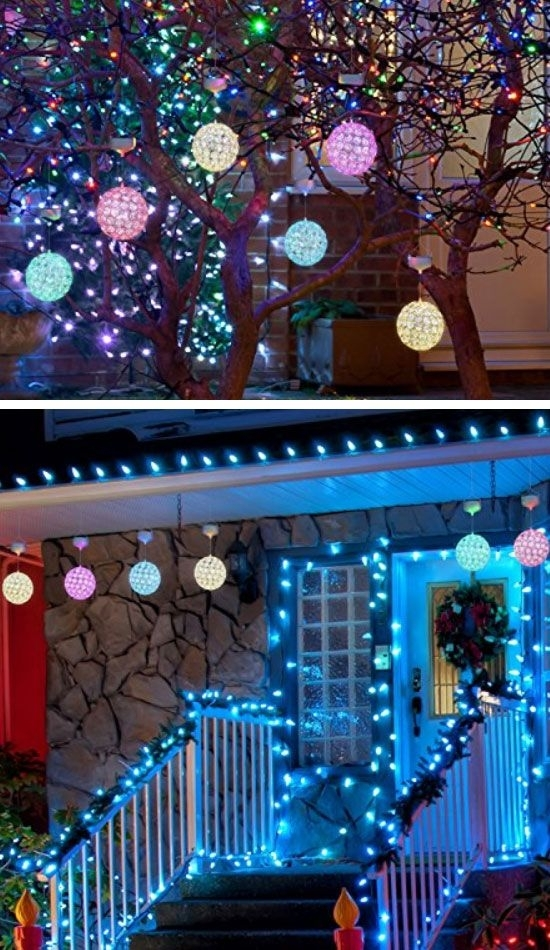 21 Best Diy Outdoor Christmas Decorations Ideas For 2017 | Outdoor for Hanging Outdoor Christmas Tree Lights (Image 1 of 10)
