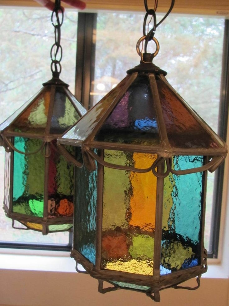 2211 Best Vitrail Images On Pinterest | Stained Glass, Lanterns And inside Outdoor Hanging Glass Lanterns (Image 3 of 10)