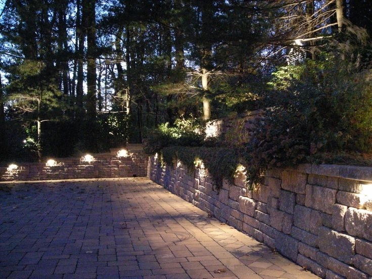23 Best Landscape/hardscape Lighting Solutions Images On Pinterest for Outdoor Rock Wall Lighting (Image 1 of 10)