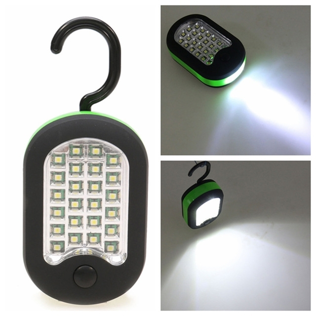 24+3 Led Work Light Portable Lamp Flashlights Torch Lanterna With with Outdoor Hanging Work Lights (Image 2 of 10)