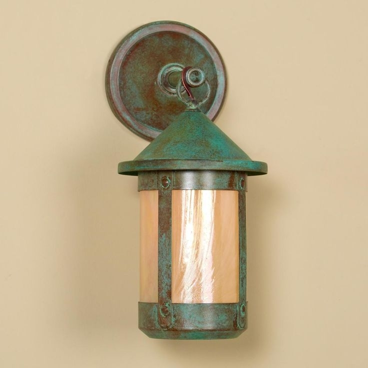 25 Best Craftsman Style Home: Lighting And More Images On Pinterest Regarding Green Outdoor Wall Lights (Gallery 7 of 10)