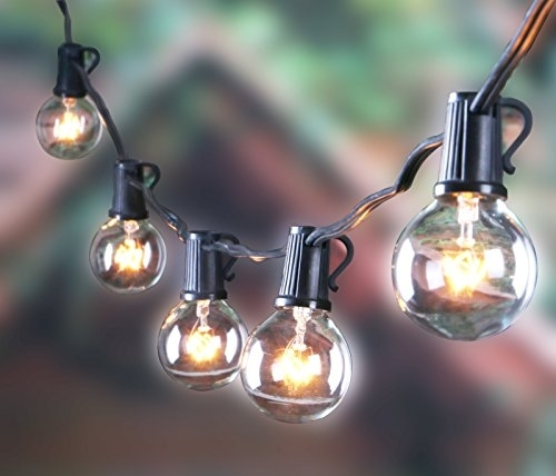 25Ft Outdoor G40 Globe String Lights, Vintage Backyard Patio Lights For Outdoor Hanging Lights Bulbs (Gallery 10 of 10)