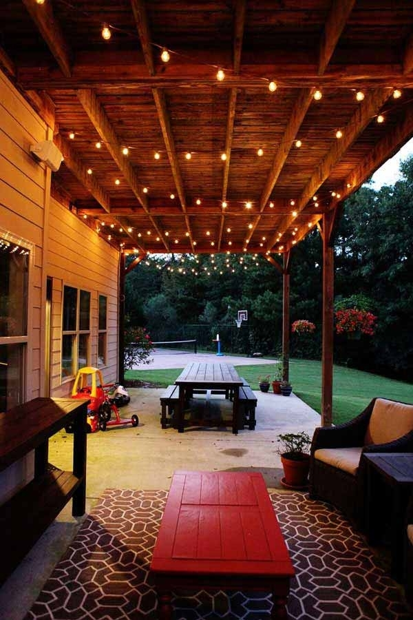 26 Breathtaking Yard And Patio String Lighting Ideas Will For with regard to Outdoor Hanging Wall Lights (Image 1 of 10)