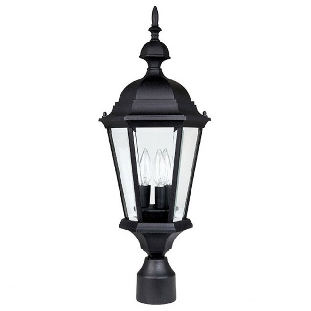 3 Lamp Outdoor Post Fixture | Capital Lighting Fixture Company pertaining to Outdoor Wall and Post Lighting (Image 1 of 10)