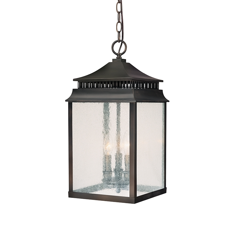 3 Light Hanging Lantern | Capital Lighting Fixture Company for Outdoor Hanging Lights From Canada (Image 1 of 10)