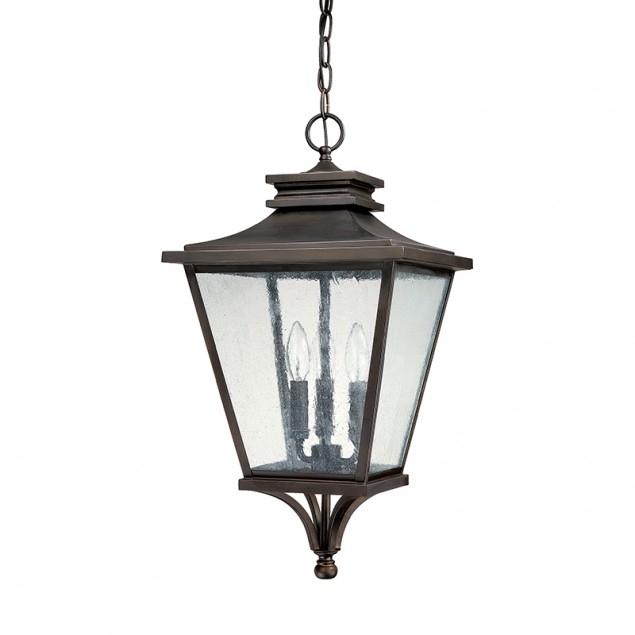 3 Light Outdoor Hanging Lantern Capital Lighting Fixture Company In Within Outdoor Hanging Lantern Lights (View 3 of 10)