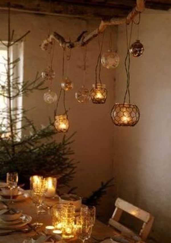 30 Creative Diy Ideas For Rustic Tree Branch Chandeliers | Diy Ideas With Regard To Outdoor Hanging Tea Lights (View 10 of 10)