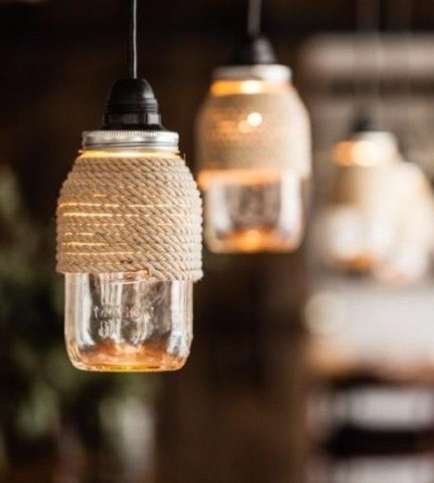 32 Diy Mason Jar Lighting Ideas intended for Diy Outdoor Hanging Lights (Image 1 of 10)
