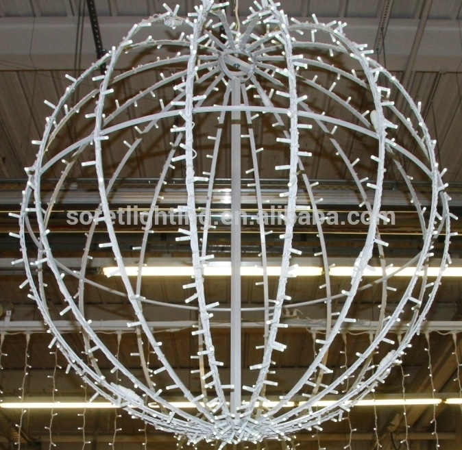 3D Christmas Lighted Outdoor Ball,led Motif 3D Ball Hanging in Outdoor Hanging Christmas Light Balls (Image 1 of 10)