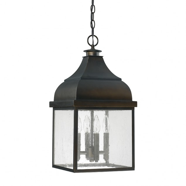 4 Light Outdoor Hanging Lantern | Capital Lighting Fixture Company regarding Outdoor Hanging Light In Black (Image 4 of 10)