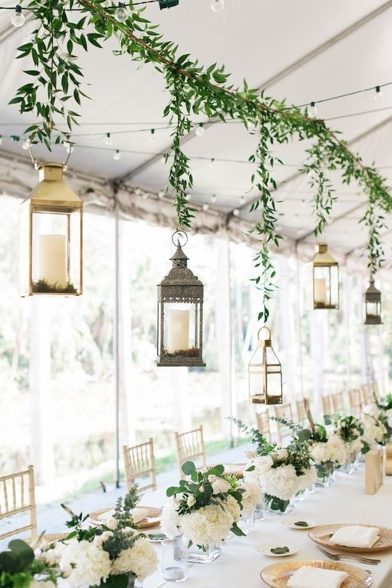 40 Hanging Lanterns Décor Ideas For Indoor Or Outdoor Weddings with Outdoor Hanging Lanterns for Wedding (Image 6 of 10)