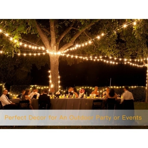 48Ft Led Outdoor String Lights with regard to Outdoor Waterproof Hanging Lights (Image 1 of 10)