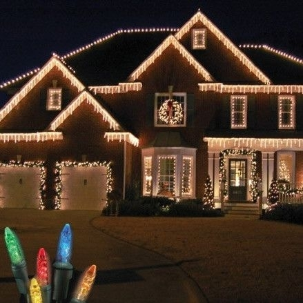 5 Tips For Hanging Outdoor Christmas Lights | Christmas | Pinterest in Outdoor Hanging Xmas Lights (Image 1 of 10)