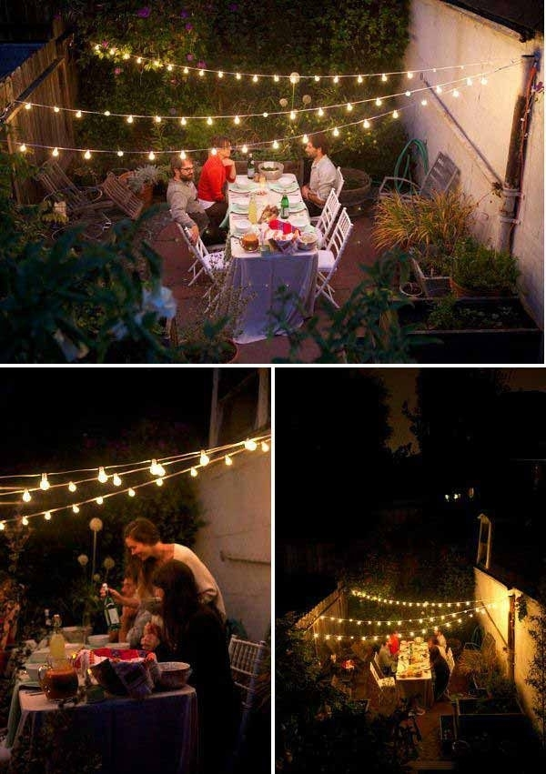 50 Inspirational Hanging Outdoor Lights String   Light And Lighting 2018 Throughout Hanging Outdoor Lights For A Party (Photo 3 of 10)