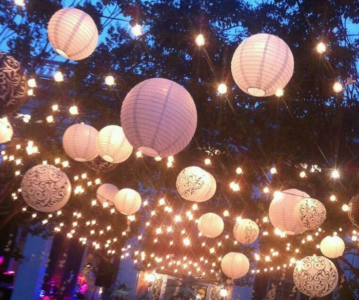 57 Best Lampionnen Buiten Gebruiken Paper Lanterns Outside Garden within Outdoor Hanging Party Lanterns (Image 1 of 10)