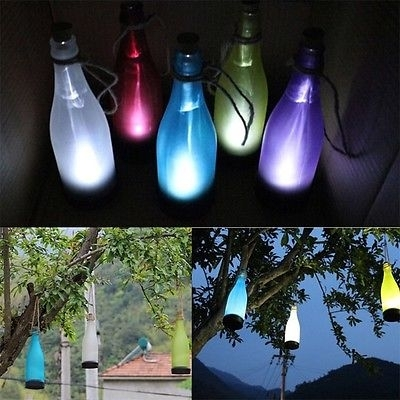 5X Wine Style Solar Led Bottle Lights Lamp House Decoration Outdoor in Outdoor Hanging Bottle Lights (Image 3 of 10)