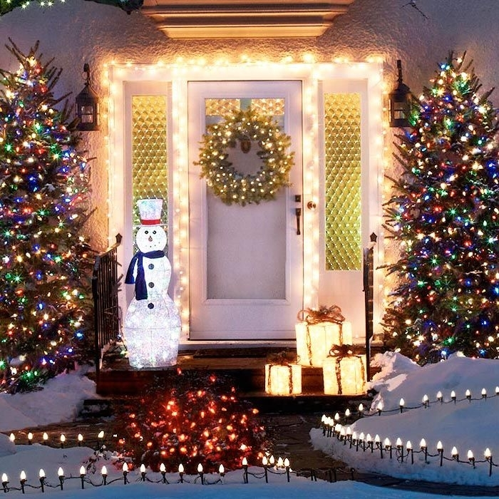 2018 best of outdoor wall xmas lights for Outdoor christmas wall decorations