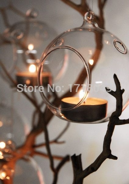 6Pcs/set Teardrop Plant Terrariums, Glass Candles Holders, Hanging Throughout Outdoor Hanging Tea Lights (View 5 of 10)