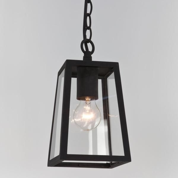 7112 Astro Calvi Pendant Black | Ip23 Outdoor Hanging Porch Lighting with regard to Outdoor Hanging Porch Lights (Image 1 of 10)