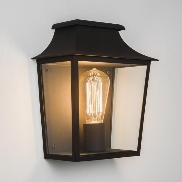 7270 Astro Richmond 235 Black Wall Lantern | Exterior Wall Lighting with regard to Outdoor Wall Lantern Lighting (Image 2 of 10)