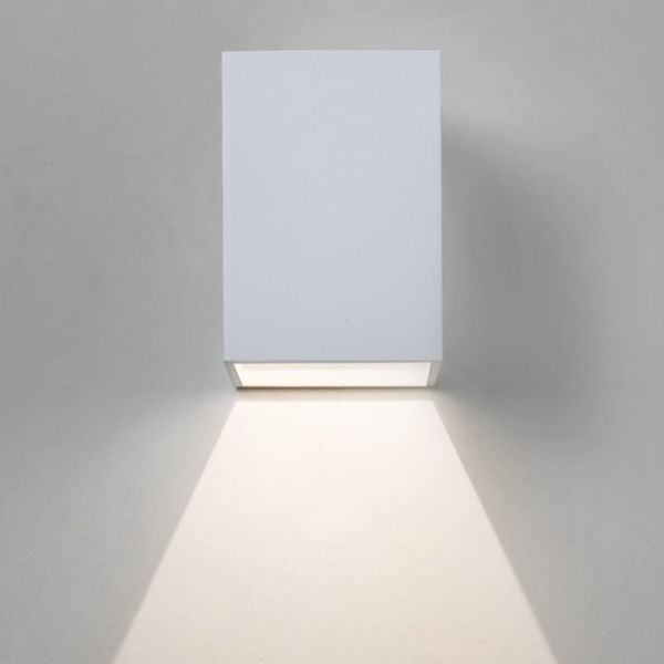 7493 Astro Lighting Oslo 100 Led White Wall Light| Contemporary within White Led Outdoor Wall Lights (Image 1 of 10)