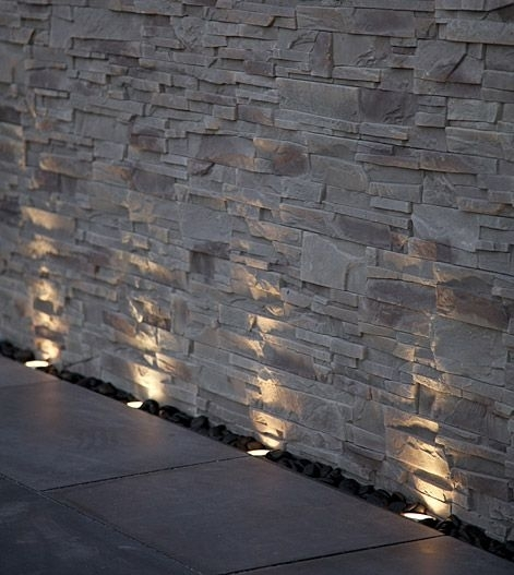 75 Beautiful And Artistic Outdoor Lighting Ideas | Stone Walls With Regard To Outdoor Rock Wall Lighting (View 4 of 10)