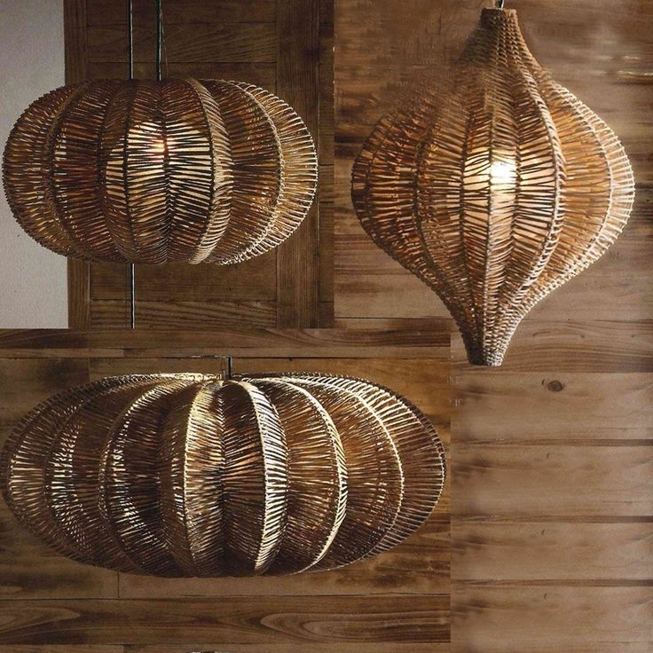 76 Best Coastal Chandeliers & Hanging Lights Images On Pinterest Inside Outdoor Rattan Hanging Lights (Photo 2 of 10)