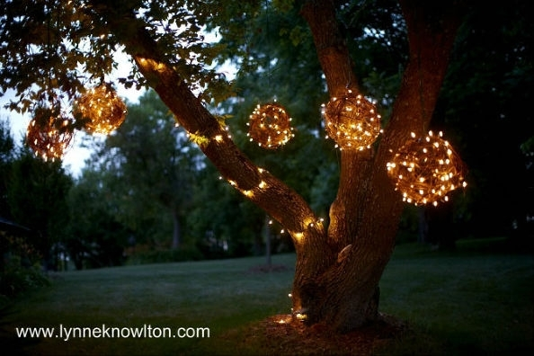 8 Creative Ideas For Diy Outdoor Lighting - Via @redfin in Outdoor Hanging Orb Lights (Image 2 of 10)