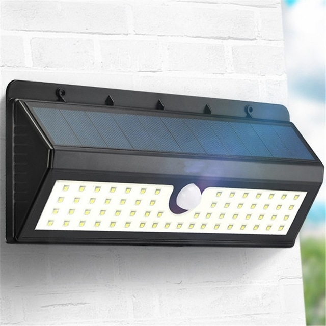 800Lm Solar Powered Light 62 Led Solar Light Pir Human Body Motion With Pir Solar Outdoor Wall Lights (Photo 9 of 10)