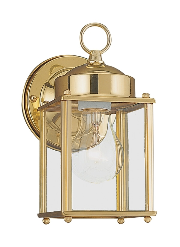8592 02,one Light Outdoor Wall Lantern,polished Brass With Polished Brass Outdoor Wall Lighting (Gallery 6 of 10)