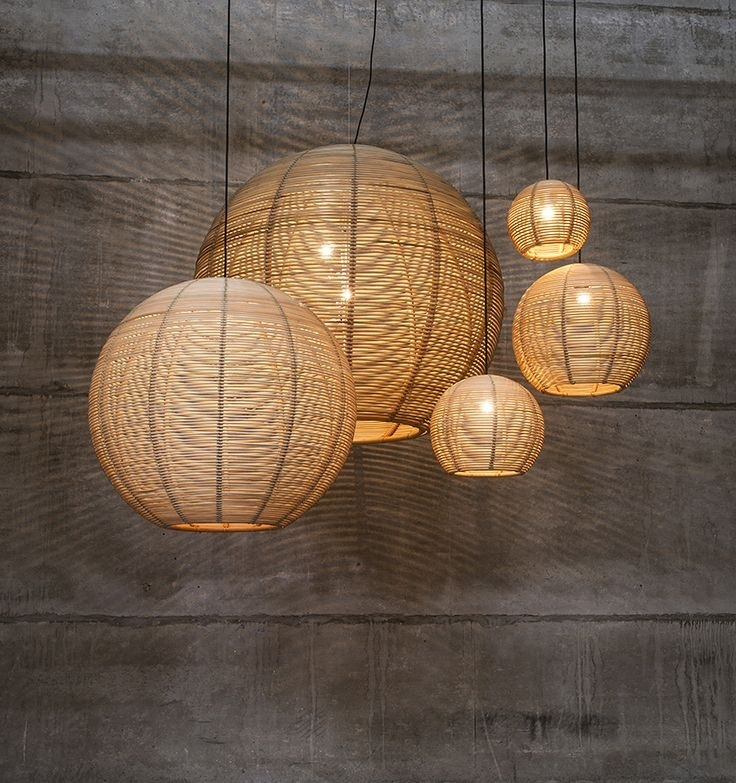 86 Best Pendants Images On Pinterest | Arquitetura, Basket And inside Outdoor Rattan Hanging Lights (Image 2 of 10)