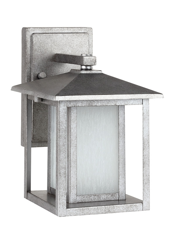 89029 57,one Light Outdoor Wall Lantern,weathered Pewter Within Pewter Outdoor Wall Lights (Photo 10 of 10)