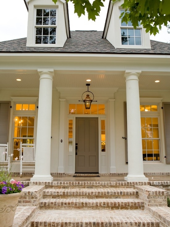 A Neutral Palette Year Round | Front Porches, Porch And Porch Steps pertaining to Outdoor Hanging Gas Lanterns (Image 3 of 10)