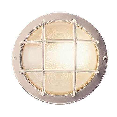 Access Lighting Nautical Satin Silver Large Round Sconce | Outdoor with regard to Access Lighting Outdoor Wall Sconces (Image 4 of 10)